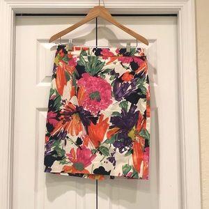 NWOT J Crew Floral Pencil Skirt